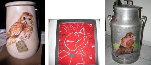 bergamo veronique, artisanat, peinture, avressieux, 73240
