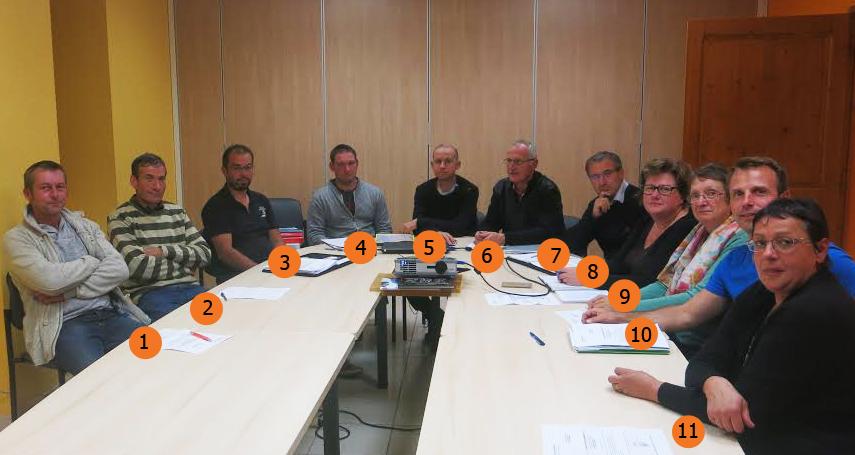 Conseil municipal, Avressieux, conseillers, maire, adjoints, photo