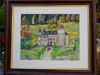 flandrin, toile, tableau, Avressieux, Artisanat