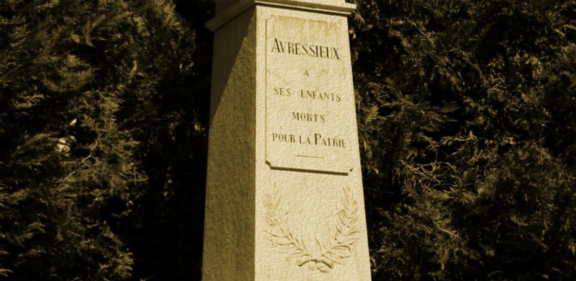 monument avressieux