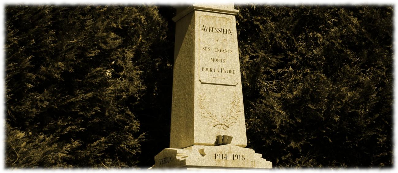 Les poilus d'Avressieux - Monument